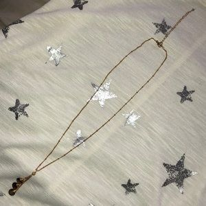 Jewelry - Gold chain with smoky quartz colored glass beads